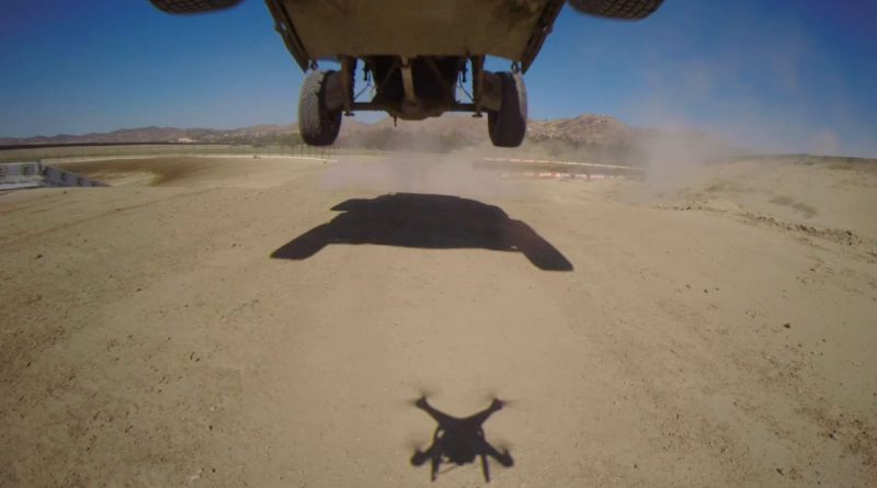 Drone Getting Sprayed By Dirt