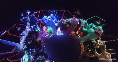 Christmas Lights via Drone – 4K Aerial Footage